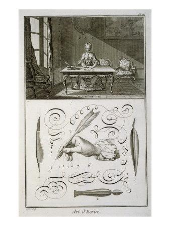Art of Writing, plate from Diderot's 'Encyclopedie'