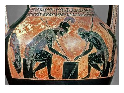 Black-Figure Amphora Depicting Ajax and Achilles, C.540 Bc