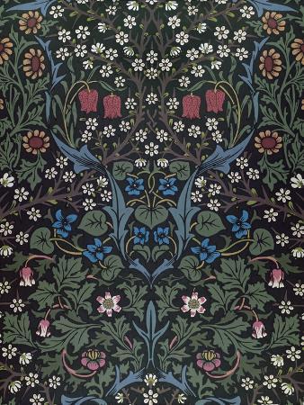 Blackthorn, Wallpaper Design, 1892