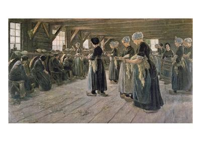Spinning Workshop in Laren, 1889