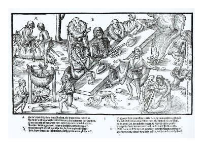 MacSweeney's Feast, Plate 3 from 'The Image of Ireland' by John Derricke, 1581