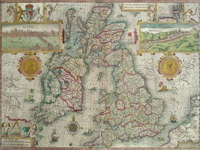 Map of the Kingdom of Great Britain and Ireland, 1610