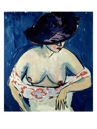 Half-Naked Woman with a Hat, 1911