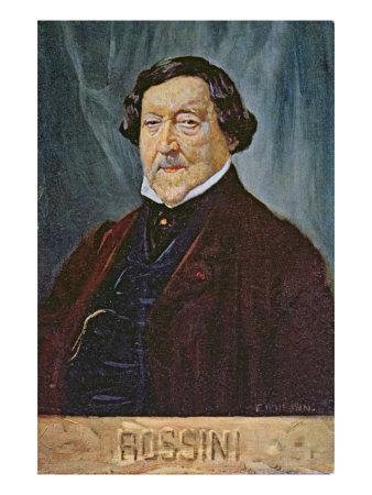 Postcard Depicting the Composer Rossini, c.1900