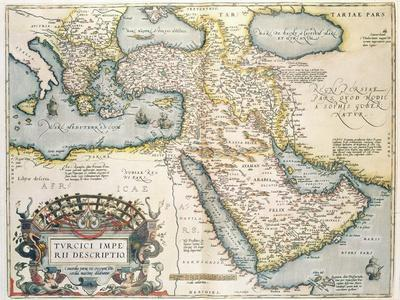 Map of the Middle East, from Theatrvm Orbis Terrarvm, 1570