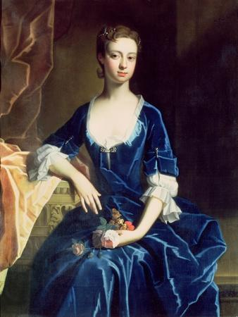 Portrait of a Lady in a Blue Velvet Dress