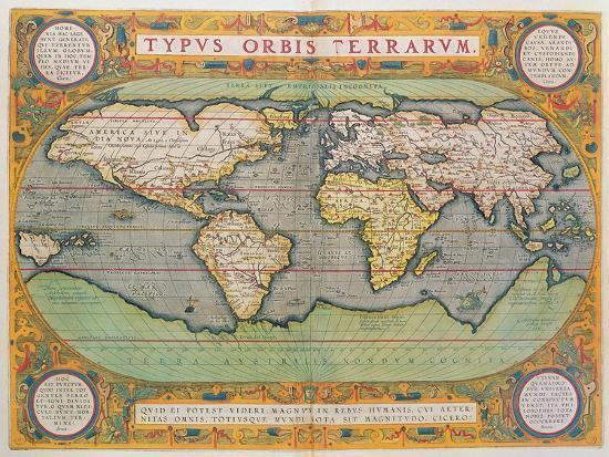 Typus Orbis Terrarum Map Of The World From Ortelius S