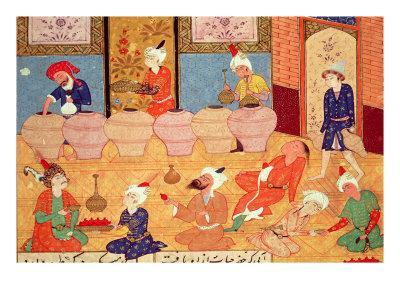 Detail of a Banquet with Musicians, from a Book of Poems by Hafiz Shirazi