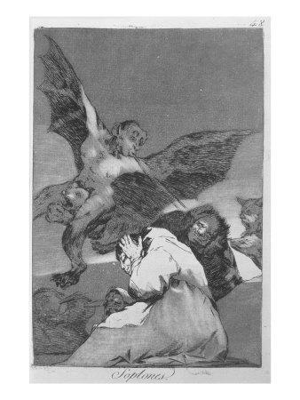 Blasts of Wind, Plate 48 of 'Los caprichos', 1799