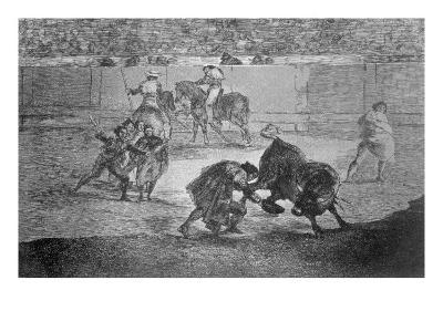 Pepe Hillo Making the Pass of the 'Recorte', Plate 29 of 'The Art of Bullfighting', pub. 1816