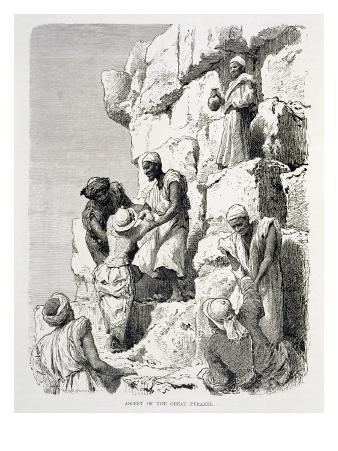 Ascent of the Great Pyramid, 19th century