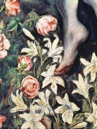 The Assumption of the Virgin, detail of flowers, c.1613
