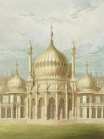 Exterior of the Saloon from Views of the Royal Pavilion, Brighton by John Nash, 1826