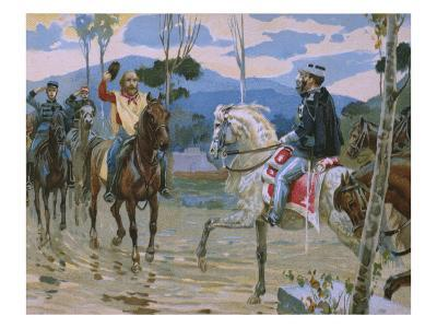 Meeting Between Giuseppe Garibaldi and King Victor Emmanuel II
