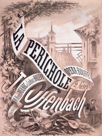 Poster for 'La Perichole', an Operetta by Jacques Offenbach