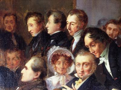 Lecture in the Foyer of the Comedie Francaise, 26 May 1828, c.1830