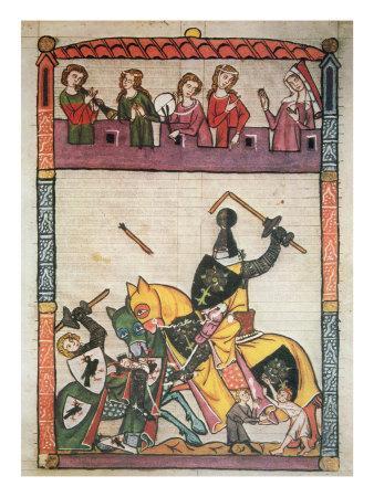 A Joust, from the Manuscript 'Cimelia Heidelbergensia'