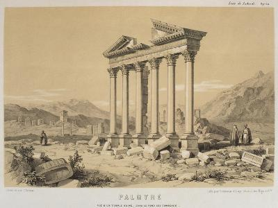 Ruined Temple, Palmyra, Syria, Illustration from 'Voyage En Asie Mineure' by Leon De Laborde