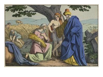 Ruth and Boaz, Illustration from 'L'Ancien Testament'