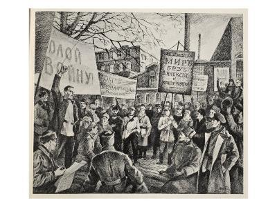 Workers Demonstration in Petrograd, April 1917