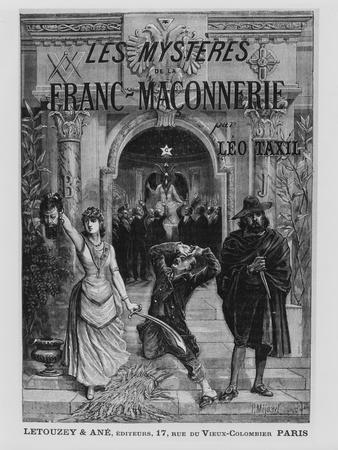 Front Cover Illustration from 'Les Mysteres De La Franc-Maconnerie' by Leo Taxil