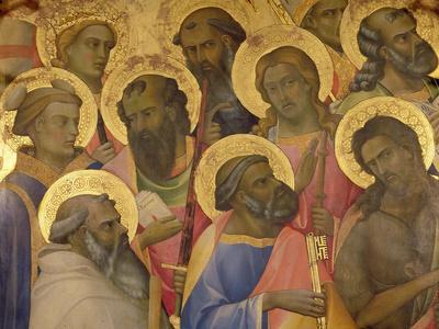 The Coronation of the Virgin, Detail of the Faces of the Saints, 1413