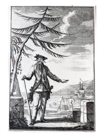 Captain Teach, Commonly Called Blackbeard, C.1734