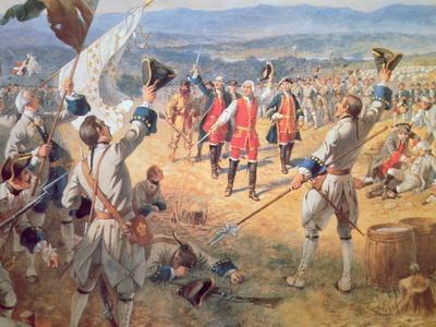 The Victory of Montcalms Troops at Carillon, 1758