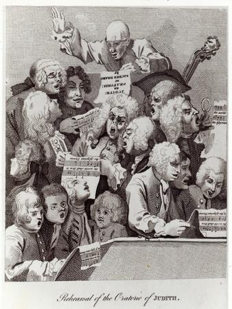 Rehearsal of the Oratorio of Judith, 1734