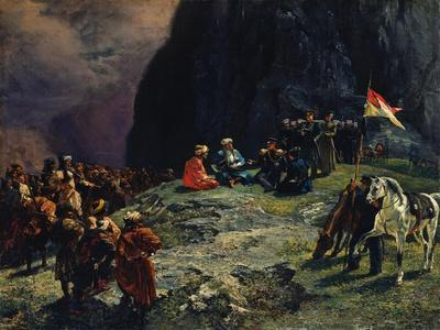 The Meeting of General Kluke Von Klugenau and Imam Shamil in 1837, 1849