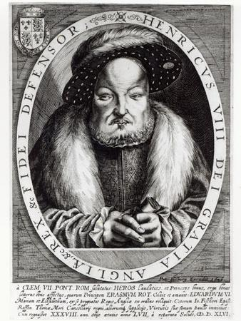 Portrait of Henry VIII, engraved by Peter Isselburg, 1646