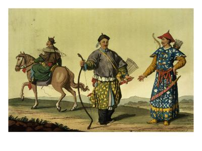 Mongolian Eight Flags Soldiers from Ching's Military Forces, engraved by A. Rancati