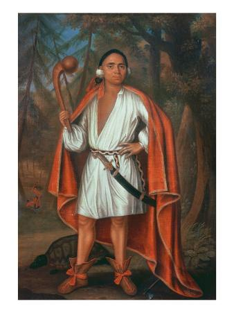 Etow Oh Koam, King of the River Nations, 1710