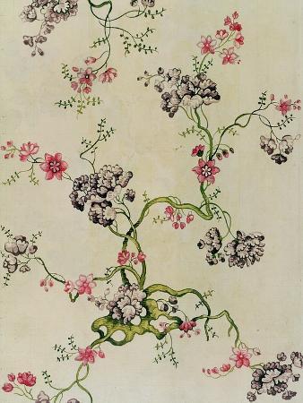 Silk Design by Anna Maria Garthwaite, 1740