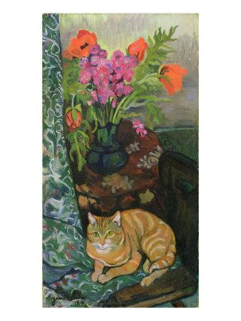 Bouquet and a Cat, 1919