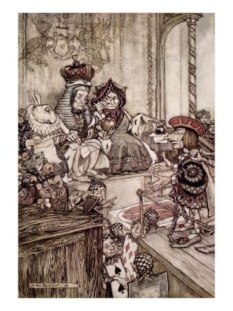 Knave Before King and Queen of Hearts, 'Alice's Adventures in Wonderland' by Lewis Carroll