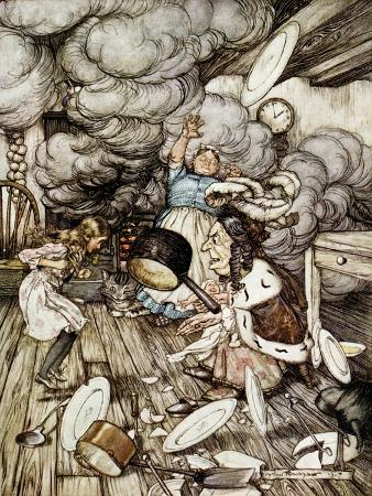 In the Duchess's Kitchen, Illustration to 'Alice's Adventures in Wonderland' by Lewis Carroll