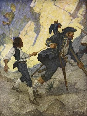 For all the world, I was led like a dancing bear an illustration from 'Treasure Island' by Robert L