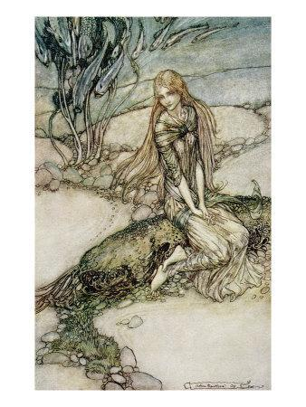 Undine, Illustration from the book by Baron Friedrich de la Motte Fouque