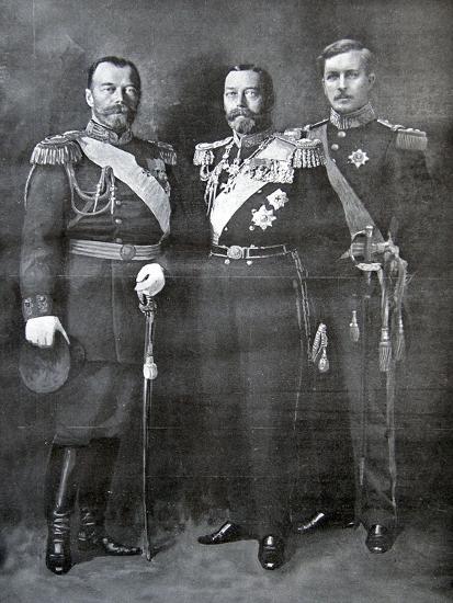 Tsar Nicholas Ii Of Russia King George V Of Great Britain