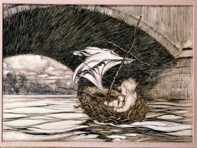 He Passed Under the Bridge and Came Within Full Sight of the Delectable Gardens', Illustration for