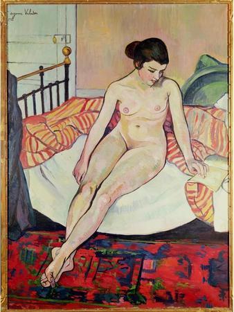 Nude with a Striped Blanket, 1922