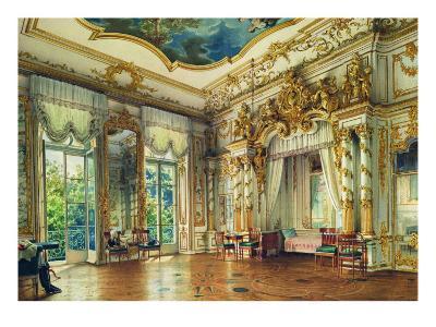 Bedroom of Tsar Alexander I in the Alexander Palace, Tsarskoye Selo, 1855