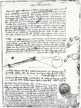 Astronomical Diagrams, from the Codex Leicester, 1508-1512