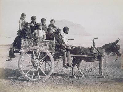 A Crowded Wagon Drawn by a Mule, Palermo, Sicily, c.1880