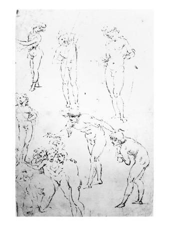 Figural Studies for the Adoration of the Magi, c.1481
