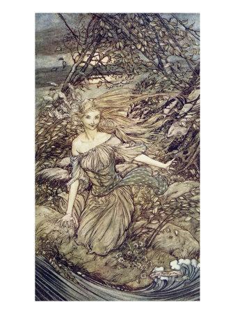 Undine, Illustration from the Book by Baron Friedrich de la Motte Fouque