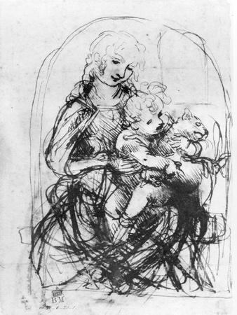 Study for a Madonna with a Cat, c.1478-80