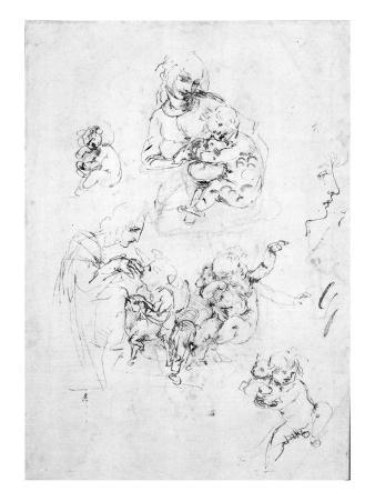 Studies for a Madonna with a cat, c.1478-80