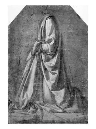 Drapery Study for a Kneeling Figure Seen in Three-quarter Profile to the Left, c.1475